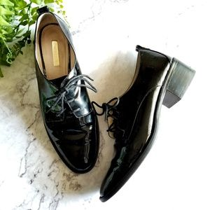 Louise et Cie Shoes - Louise et Cie | Fenn Black Patent Lace-Up Oxfords